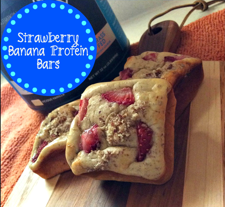 Strawberry Banana Protein Bars