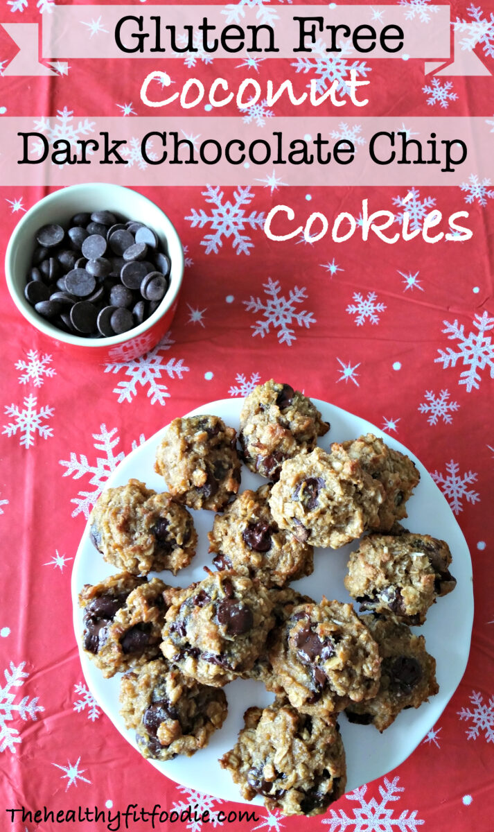 These Gluten Free Coconut Dark Chocolate Chip Cookies