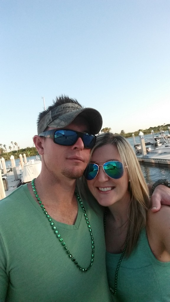 Aaron and I at Outriggers St Patties 2015