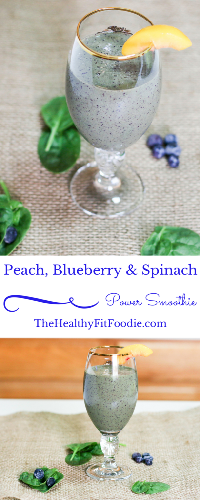 Peach, Blueberry & Spinach