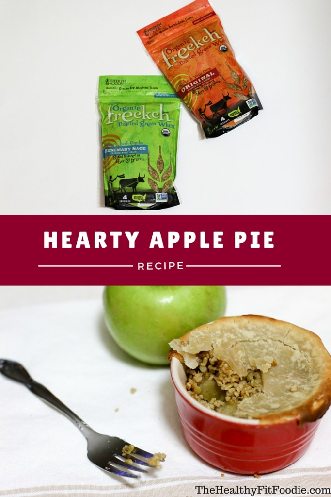 Hearty Apple Pie, Healthy Apple Pie, high protein apple pie