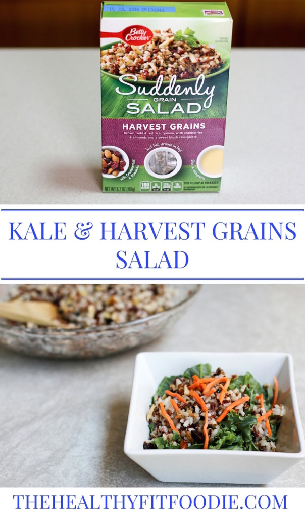 Kale and harvest grains salad, suddenly grain salad, suddenly grain salad review