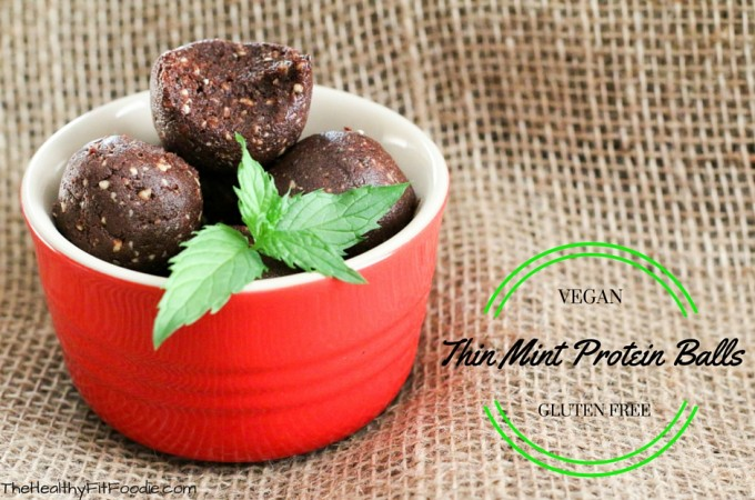 Thin Mint Date Protein Balls Recipe | Chocolate Mint Date Energy Balls