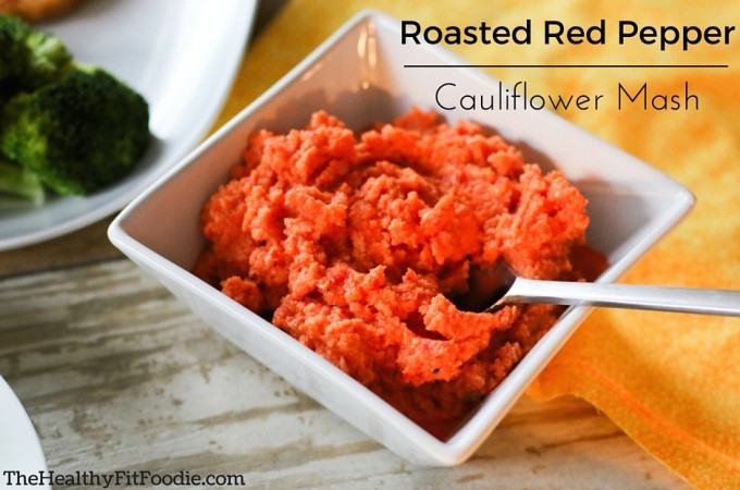 Roasted Red Pepper Cauliflower Mash