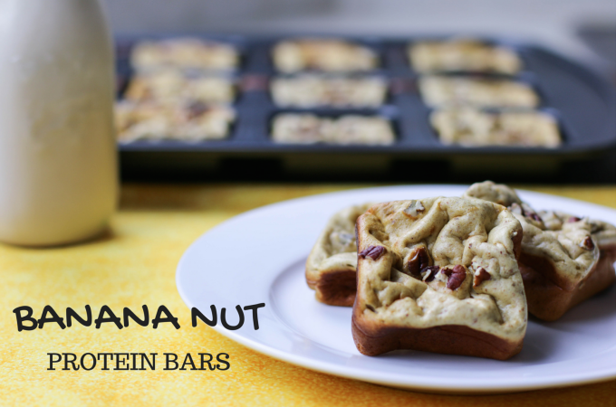 Gluten Free Banana Nut Protein Bars