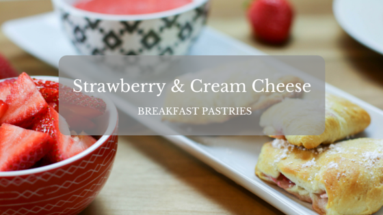 Strawberry and Cream Cheese Breakfast Pastries with a Strawberry Dipping Sauce #SundaySupper #FLStrawberry