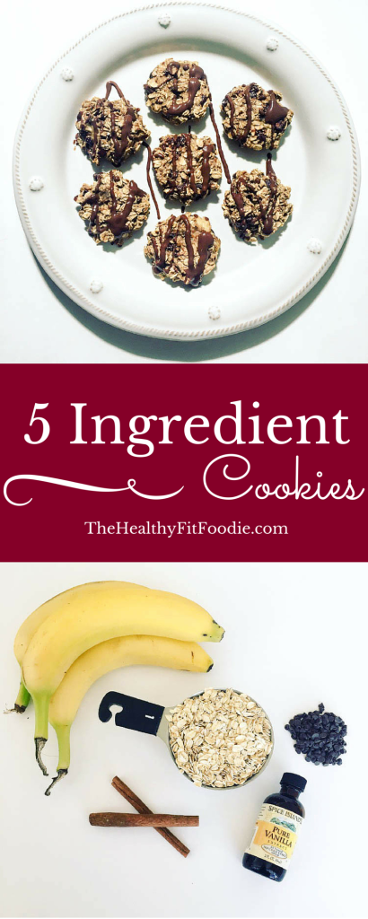 5 ingredient cookies, healthy cookies with few ingredients