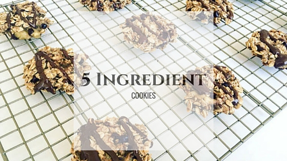 {Gluten-Free & Vegan} 5 Ingredient Cookies