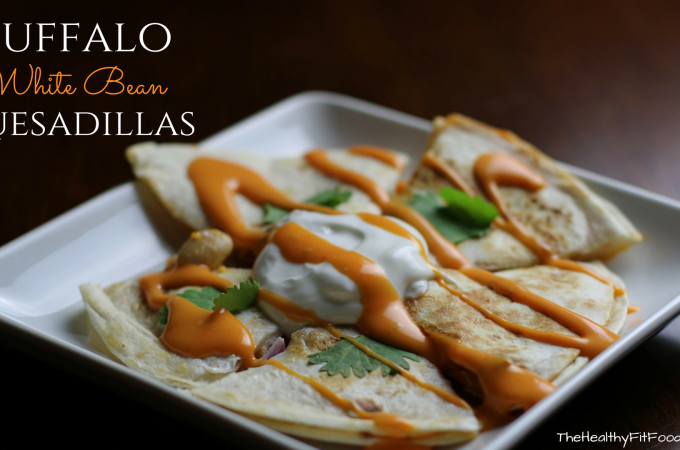 Buffalo White Bean Quesadillas