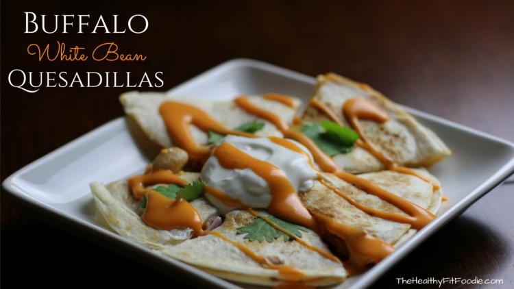 Quick and Easy Buffalo White Bean Quesadilla. Quick Mexican Dinner Idea. Simple healthy dinner idea. #sponsored