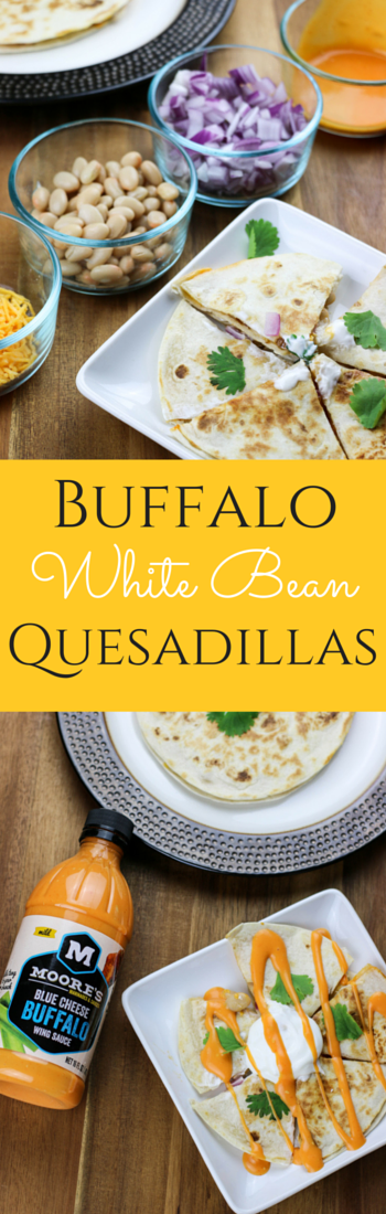 Quick and Easy Buffalo White Bean Quesadilla. Quick Mexican Dinner Idea. Simple healthy dinner idea {Sponsored}.