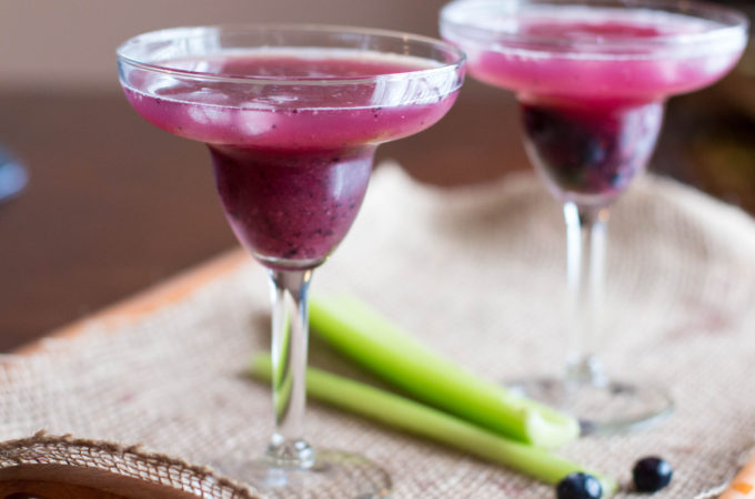 Blueberry Celery Kombucha Cocktail