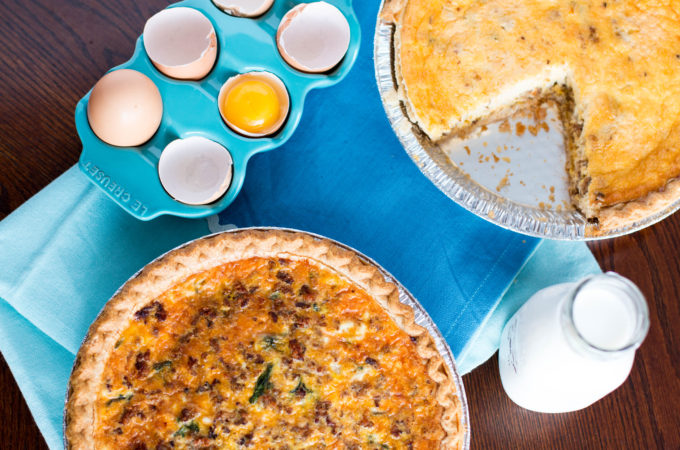 Lighter Breakfast Quiche for #JuneDairyMonth with #SundaySupper