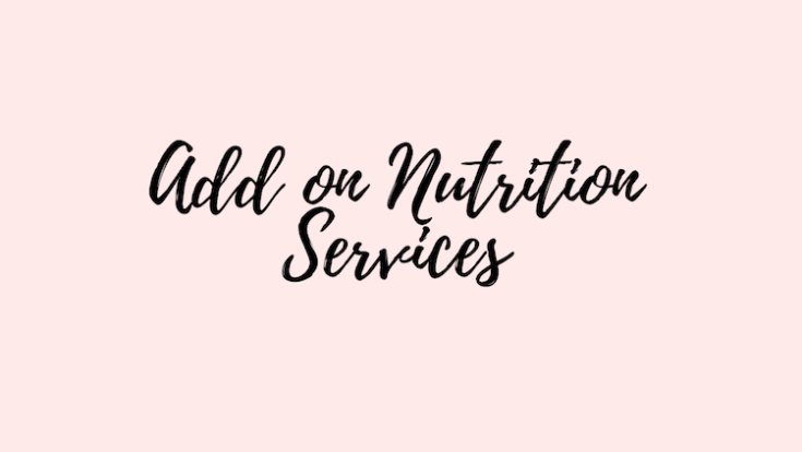 add on nutrition services options image