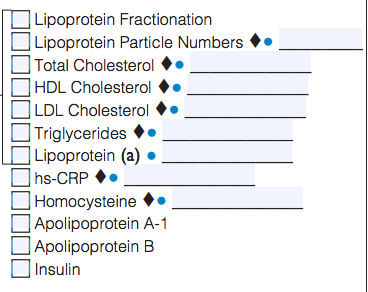 image of labs included in the lipoprotein particle profile