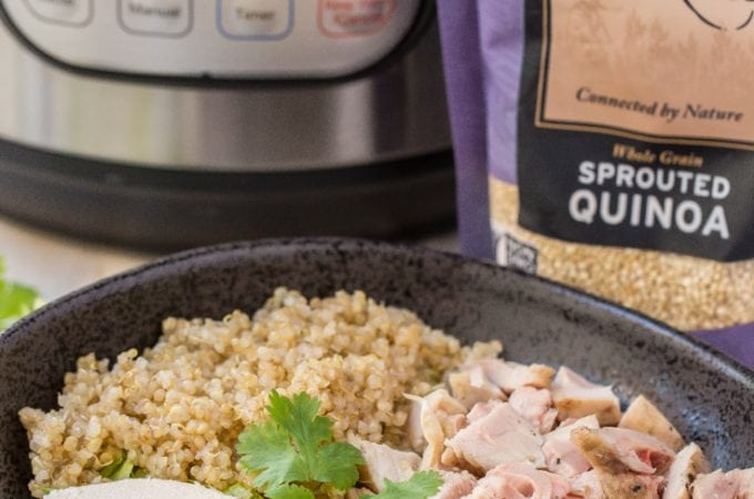 Fail Proof 1 Minute Instant Pot Quinoa Recipe + Quinoa Salad