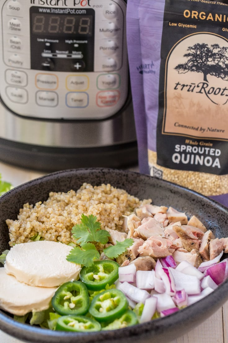 1 Minute Instant Pot Quinoa. How to make Quinoa and instant pot.