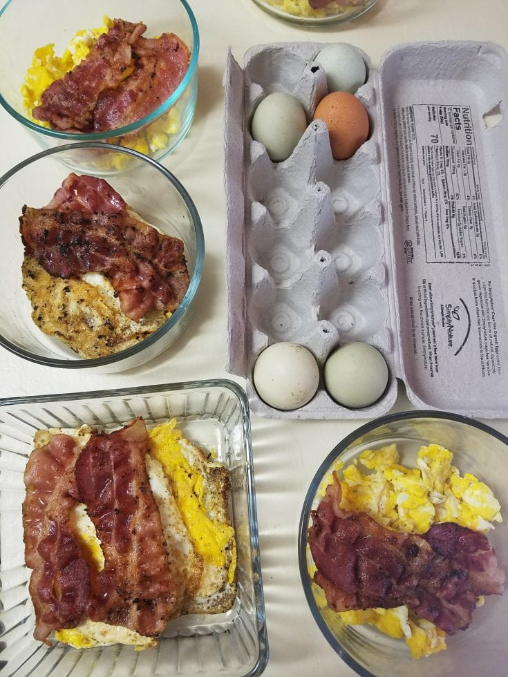 local farm fresh chicken eggs and uncured bacon