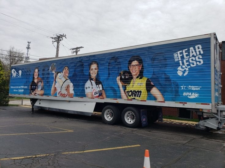 PWBA Truck at the Cleveland Pro