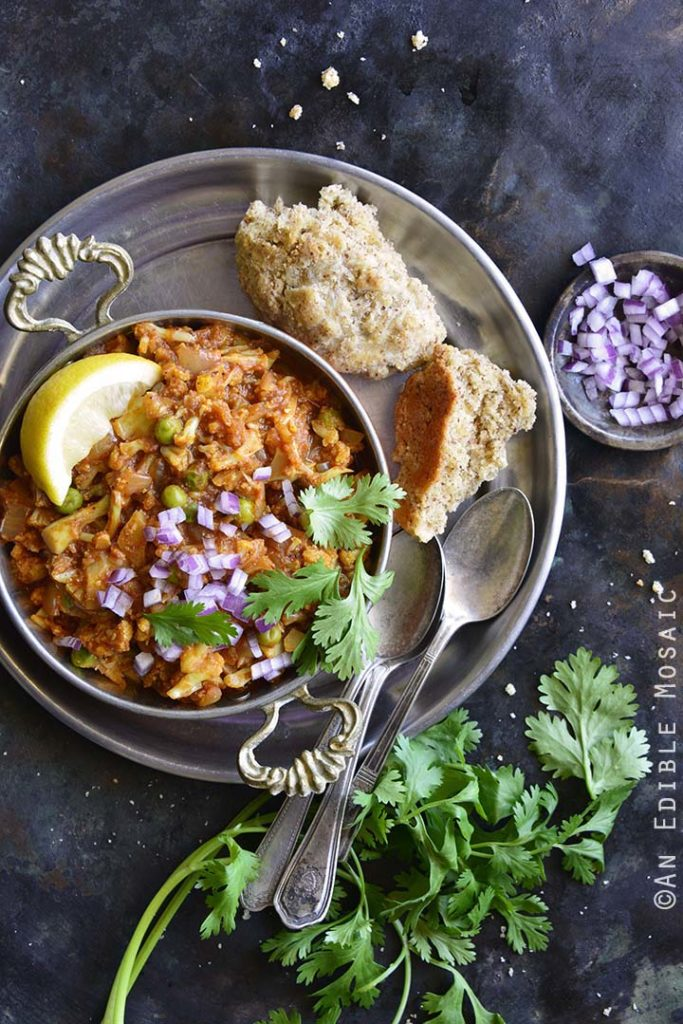 image of Instant Pot Cauliflower Pav Bhaji (Low Carb Indian Food)