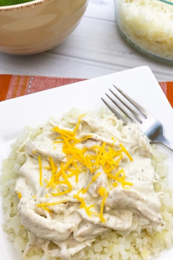 image of keto instant pot cheesy ranch chicken