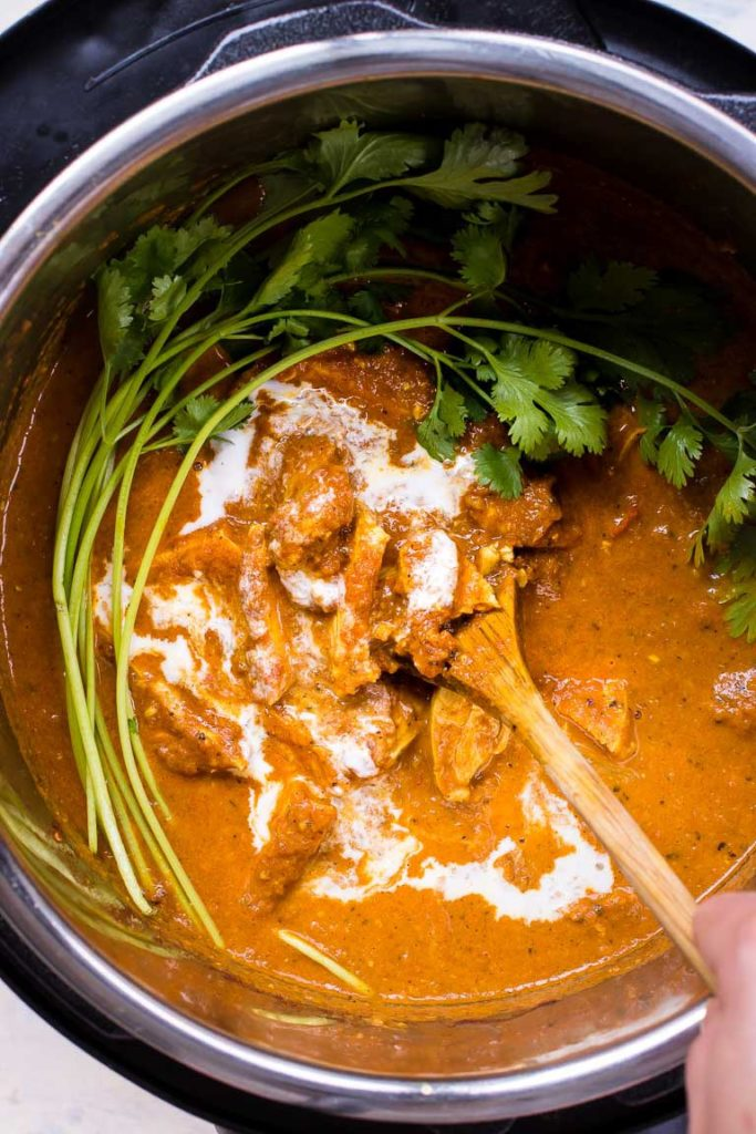 image of instant pot butter chicken